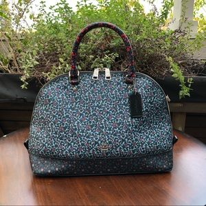 🌺 Denim Friendly Coach Satchel w/Shoulder strap